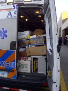 Ambulance Service of Manchester Emergency of Hunger Food Drive
