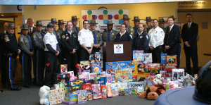 Connecticut State Police, Aetna and ASM Ambulance, Connecticut Children's Medical Center 15th Annual Toy Drive