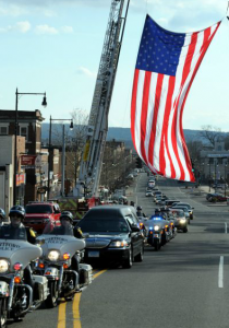 Funeral Procession for John Marvin