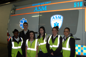 Rockville High School Job Shadow Group at ASM